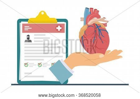 Heart Transplantation. The Concept Of Donating An Internal Organ For Transplantation. Human Organ Fo