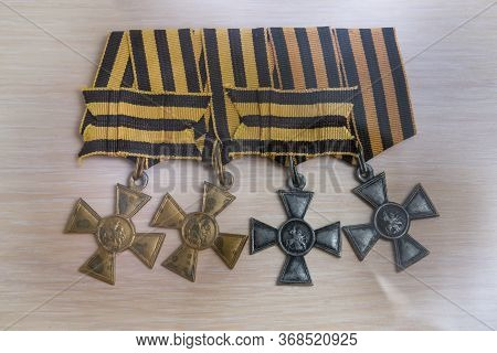 The Complete St. George Knight: Four St. George Crosses Of The Russian Empire .19 Century