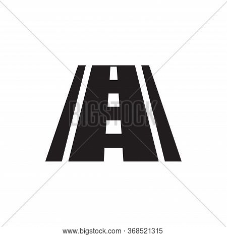 Road Icon Isolated On White Background. Road Icon In Trendy Design Style For Web Site And Mobile App