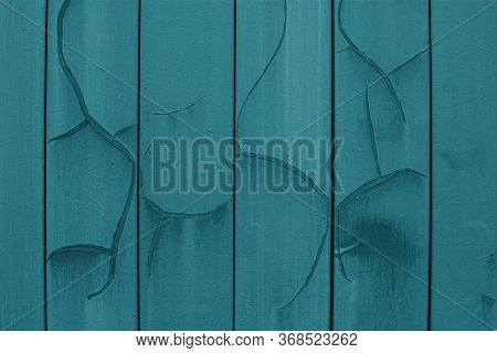 The Texture Of A Cracked Dark Green Emerald, Metal Plates Painted In A Greenish Emerald Color With S