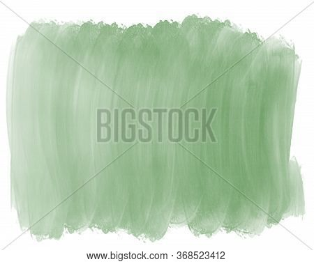 Watercolor Gradient Green Swamp Backdrop Background For Design. Hand Drawn Abstraction Spot Of Green