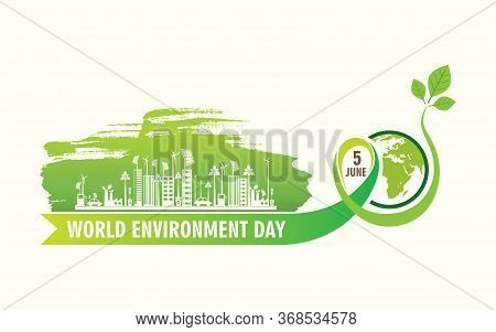 Creative Vector Illustration Of World Environment Day Banner Design