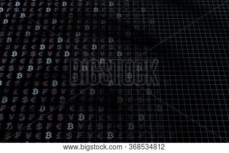 Bitcoin Background. Crypto Currency 3d Illustration. Digital Currency Symbol. Business Concept. Mini