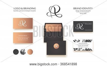 Creative Monogram - Hand Drawn Calligraphy Sign. Business Card Design Included. Uppercase A, R And P