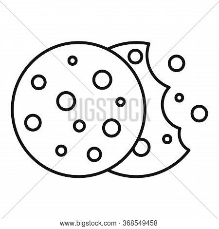 Christmas Biscuit Icon. Outline Christmas Biscuit Vector Icon For Web Design Isolated On White Backg