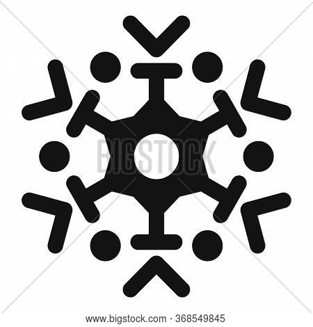 Frozen Snowflake Icon. Simple Illustration Of Frozen Snowflake Vector Icon For Web Design Isolated O