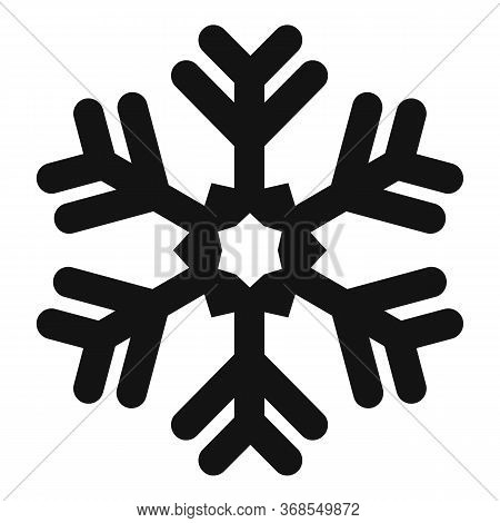 Frost Snowflake Icon. Simple Illustration Of Frost Snowflake Vector Icon For Web Design Isolated On