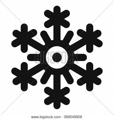 Freeze Snowflake Icon. Simple Illustration Of Freeze Snowflake Vector Icon For Web Design Isolated O