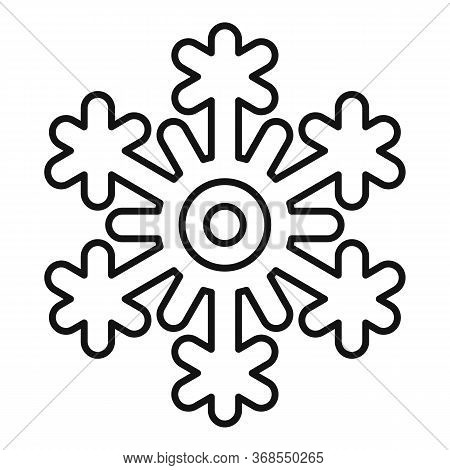 Freeze Snowflake Icon. Outline Freeze Snowflake Vector Icon For Web Design Isolated On White Backgro