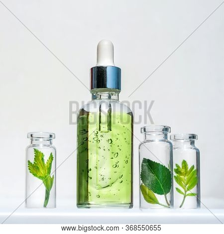 Natural Cosmetic Product, Serum For The Care And Beauty Of Skin And Hair. Homeopathic Vegetable Oils