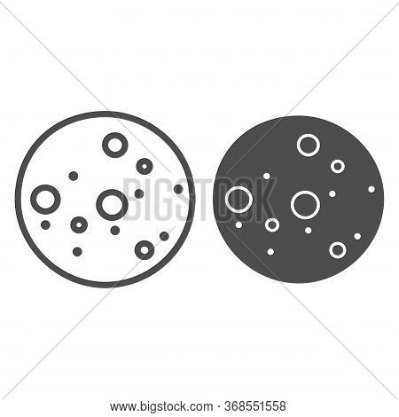 Cookie Biscuit Line And Solid Icon, Confectionary Concept, Cookies Sign On White Background, Chocola