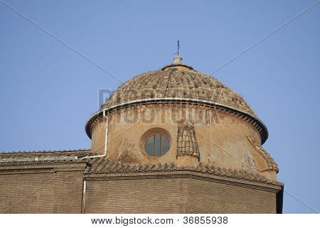 One Of The Many Domes Of Rome