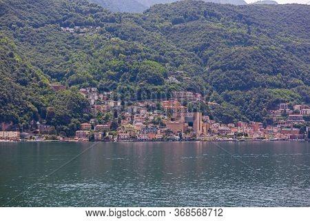 Italian Comune Campione D Italia At Lake Lugano