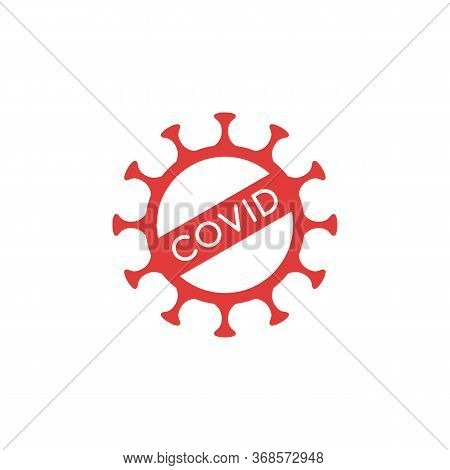 Covid-19 Outline Symbol - Coronavirus Stamp And Virus Warning Sign. Pandemic Control And Infection P