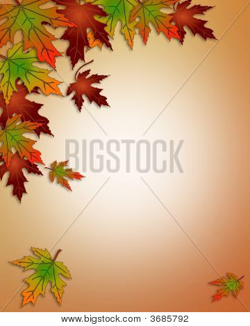 Fall Autumn Leaves Corner Design