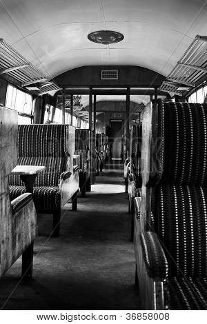 Interior Of Old Steam Train