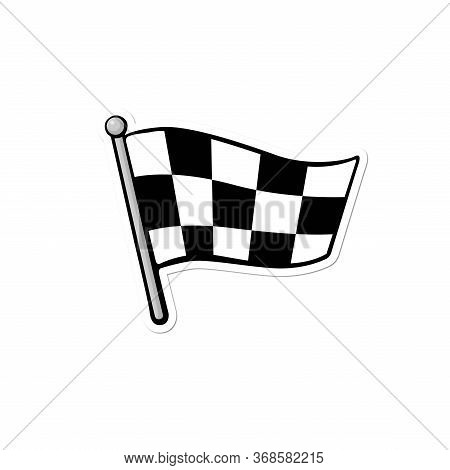 Racing Flag Vector, Starting Flag Symbol, Black And White Flag, Checkered Flag Icon, Check Mark Flag