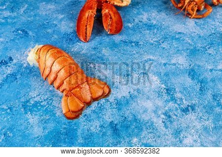 Gourmet Seafood Boiled Yummy Lobster Organic Tail And Claw