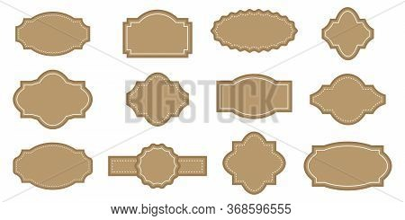 Vintage Retro Label. Vector Image Of A Set Of Old Frames. Sticker Or Invitation For A Gift. Stock Ph
