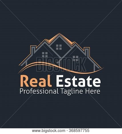 Real Estate Corporate Logo. Real Estate Logo Vector Template. Corporate Real Estate Logo