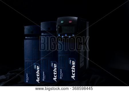 Chonburi, Thailand-april 18, 2020 : Bonfiglioli Vectron Frequency Inverter. Inverter Controller. Pow