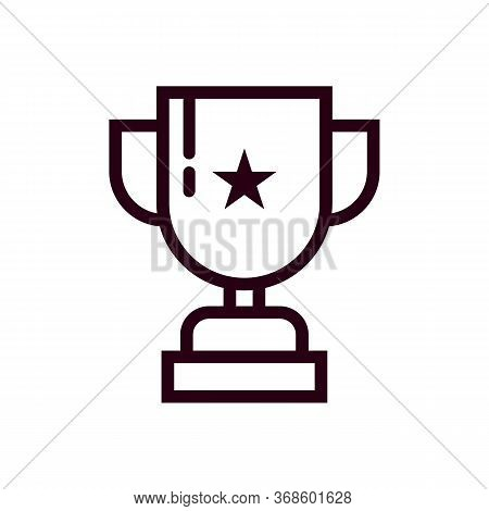 Trophy Icon Isolated On White Background From Tab Bar And Settings Collection. Trophy Icon Trendy An