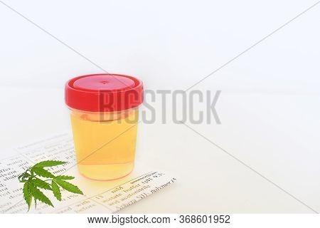 Urinalysis, Drug Testing, Plastic Jars For Medical Tests. Urine Test.medical Laboratory Container Wi