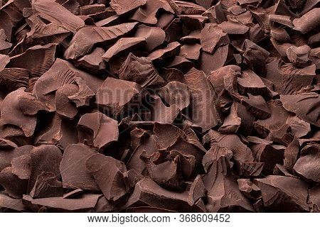 Pieces Of Dark Chocolate Background, Sweet Food
