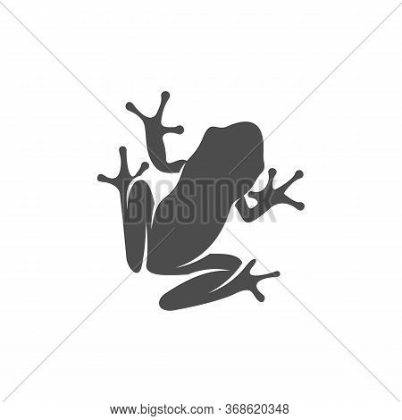 Frog Logo Vector Design Template, Silhouette Frog Logo Animal, Illustration