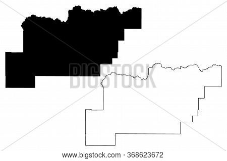Clark County, Idaho (u.s. County, United States Of America, Usa, U.s., Us) Map Vector Illustration,