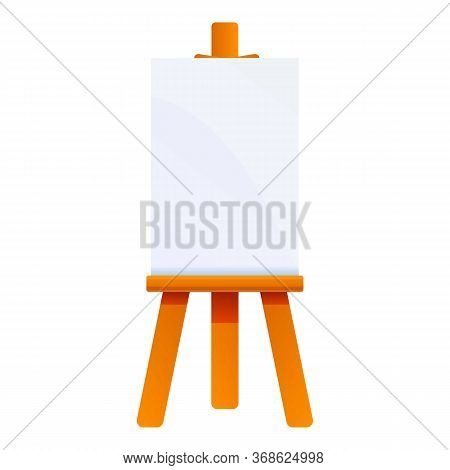 Exhibition Easel Icon. Cartoon Of Exhibition Easel Vector Icon For Web Design Isolated On White Back