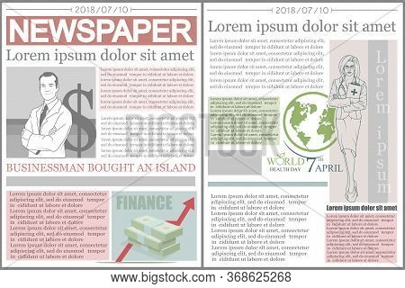 Newspaper. Concept Newspaper Template. Vector Artwork. Lettering
