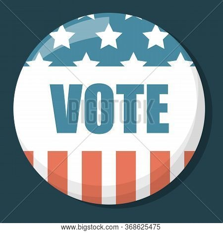 Election Pin Vector Isolated. Vote For President