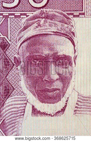 Old Man A Portrait From Old Guinean Money