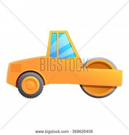 Construction Road Roller Icon. Cartoon Of Construction Road Roller Vector Icon For Web Design Isolat