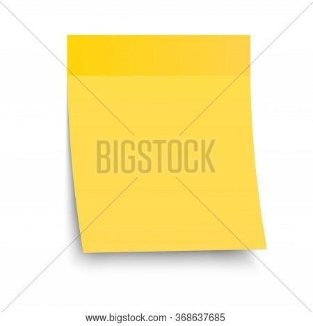 Yellow Paper Sticker For Organizing Time, Recording, Memo. The Sticker Is Hanging On A Sticky Tape,