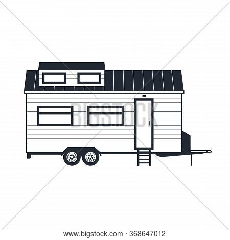 Wheeled Tiny House - Trailer Hovel, Off Grid Traveling Hut Or Cabin