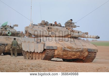 South Israel 21 July 2014 Israeli Armed Forces Heading To Gaza Strip During Conflict