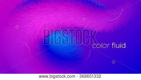 Pink Flow Futuristic Liquid. Vector Digital Cover. Neon Vibrant Template. Blue Creative Motion. Pink