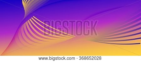 Fluid Abstract. Flow Wallpaper. 3d Shapes Pattern. Color Geometric Background. Colorful Technology T