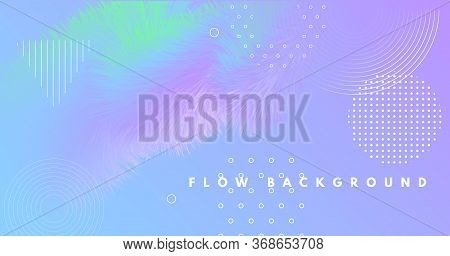 Vibrant Background. Pastel Music Banner. Vector Creative Template. Flow Dynamic Motion. Neon 3d Vibr