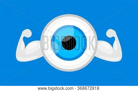 Eyeball Blue, Strong Healthy Concept, Eye Graphic Blue For Icon, Eyeball Illustration Clip Art, Eyes