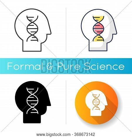 Human Biology Icon. Modern Science, Natural Field Of Study. Genetics, Biotechnology, Gene Engineerin