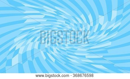 Light Blue Twirl Wave Pattern Abstract For Background, Optical Wave Twirl Blue Color, Hypnotic Conce