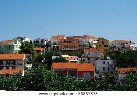 Modern Houses In Hvar, Croatia