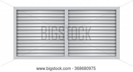 Square Plastic Air Vent. Wall Ventilation Grate.