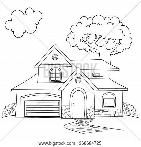 House Coloring Page, Useful As Coloring Book For Kids, House Coloring Page, Useful As Coloring Book
