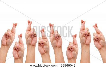 Conceptual Image, Finger Crossed Hand Sign
