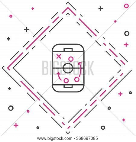 Line Planning Strategy Concept Icon Isolated On White Background. Hockey Cup Formation And Tactic. C