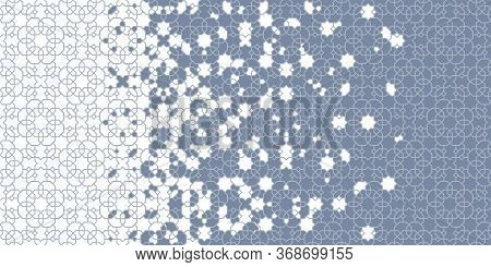 Arabian Wallpaper, Background, Backdrop. Mosaic Vector Pattern. Geometric Arabesque Halftone Arabian